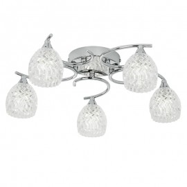 Endon Boyer 5 Bulb Chrome Ceiling Light