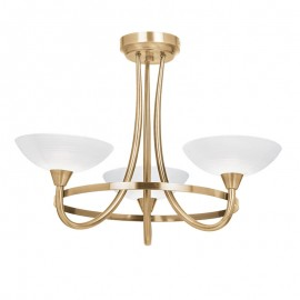 Cagney 3 Light Antique Brass Effect Ceiling Light