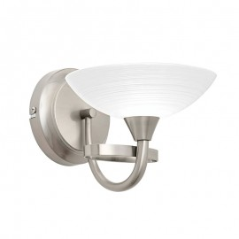 Endon Cagney Satin Chrome Effect Wall Light