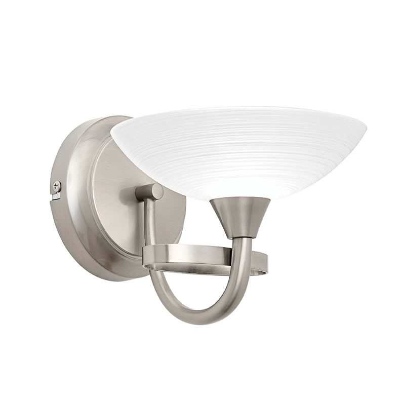Wall Lights Satin Chrome : Cagney Satin Chrome Effect Wall Light