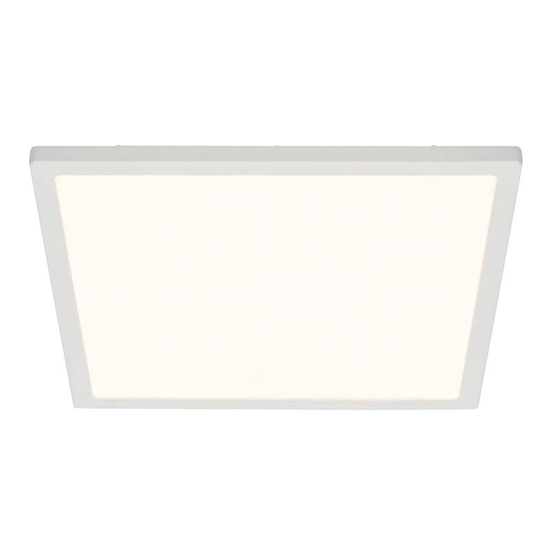 ceres square flush gloss white 10w led 250mm ceiling light. Black Bedroom Furniture Sets. Home Design Ideas