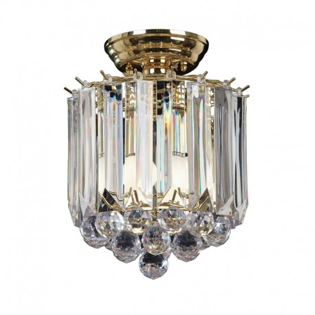 Fargo Acrylic & Brass Effect Ceiling Light