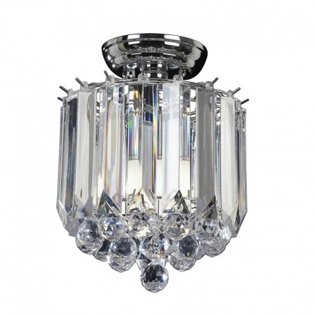 Fargo Acrylic & Chrome Effect Ceiling Light