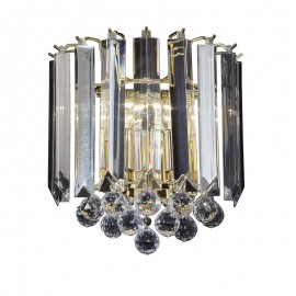 Fargo Acrylic & Brass Effect Wall Light