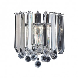 Endon Fargo Acrylic & Chrome Effect Wall Light
