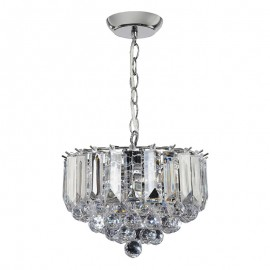 Endon Fargo 3 Bulb Small Chrome Effect Pendant Light