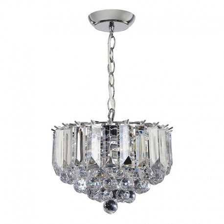 Fargo 3 Bulb Small Chrome Effect Pendant Light