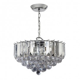 Fargo 3 Bulb Chrome Effect Pendant Light
