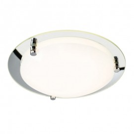 Endon Foster 300mm Mirrored 12W Led Ceiling Light