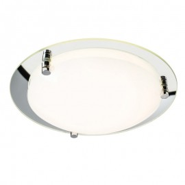 Endon Foster 400mm Mirrored 18W Led Ceiling Light