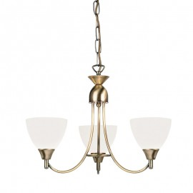 Endon Alton 3 Light Antique Brass Pendant Light