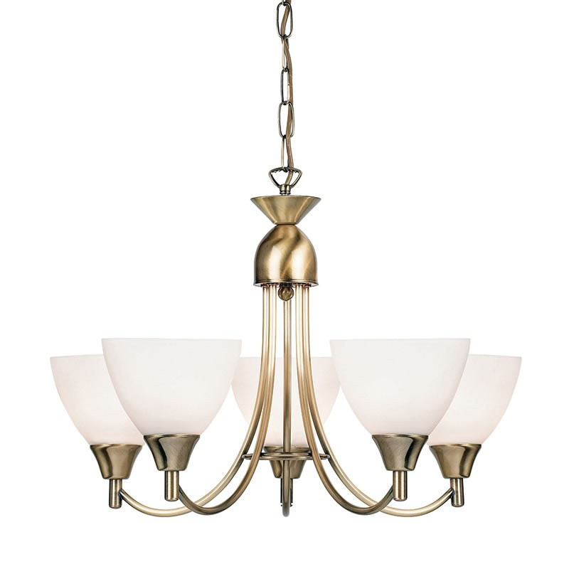 Alton 5 Light Antique Brass Pendant Light