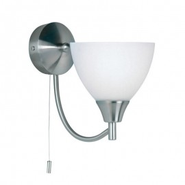 Endon Alton Satin Chrome Wall Light