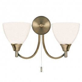 Endon Alton 2 Light Antique Brass Wall Light