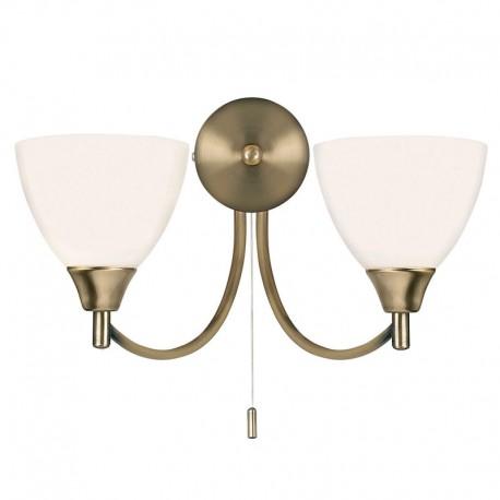 Alton 2 Light Antique Brass Wall Light