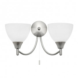 Endon Alton 2 Light Satin Chrome Wall Light