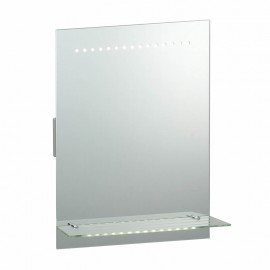 Endon Omega LED Bathroom Mirror With Glass Shelf