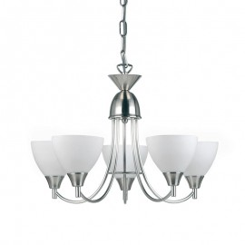 Alton 5 Light Satin Chrome Pendant Light
