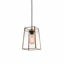Endon Beaumont Non Electric Angular Glass Pendant Light