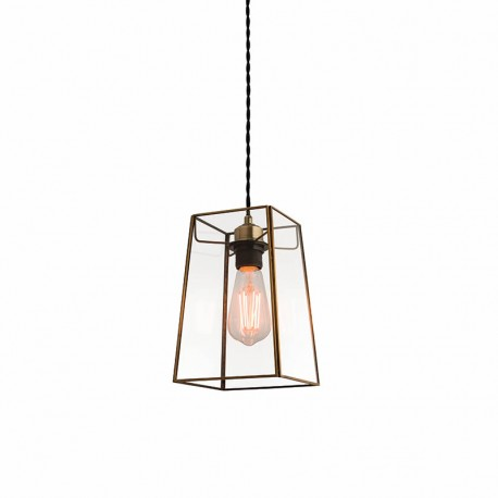 Beaumont Non Electric Angular Glass Pendant Light
