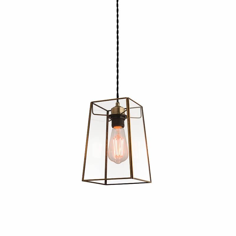 beaumont non electric angular glass pendant light