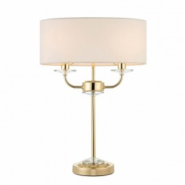 Nixon 2 Light Bulb Brass Effect Table Lamp