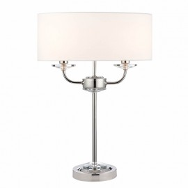 Endon Nixon 2 Light Bulb Brass Effect Table Lamp
