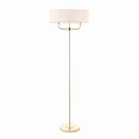 Nixon 2 Light Bulb Brass Effect Floor Lamp