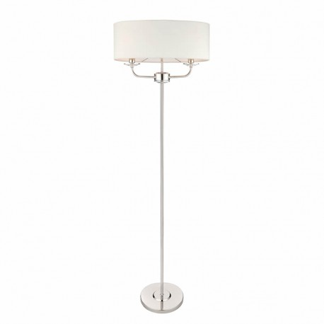 Nixon 2 Light Bulb Bright Nickel Effect Floor Lamp