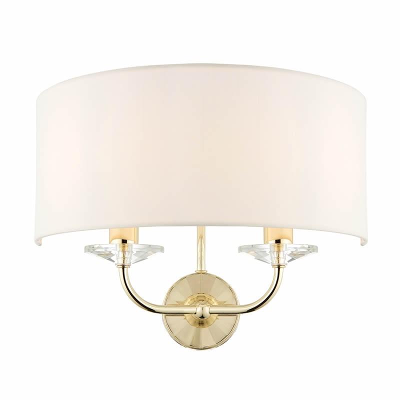 Nixon 2 Light Bulb Brass Effect Wall Lamp