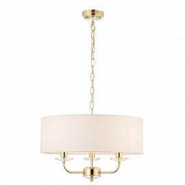 Nixon 3 Light Brass Effect Ceiling Pendant Light