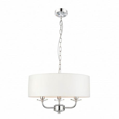 Nixon 3 Light Bright Nickel Effect Ceiling Pendant Light