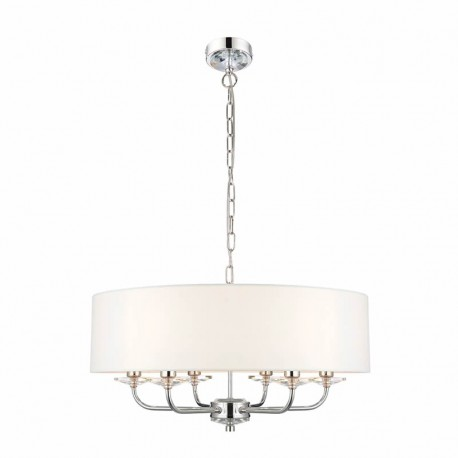 Nixon 6 Light Bright Nickel Effect Ceiling Pendant Light