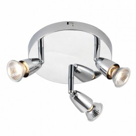 Endon Amalfi Chrome Plate 3 Light Round Ceiling Spotlight