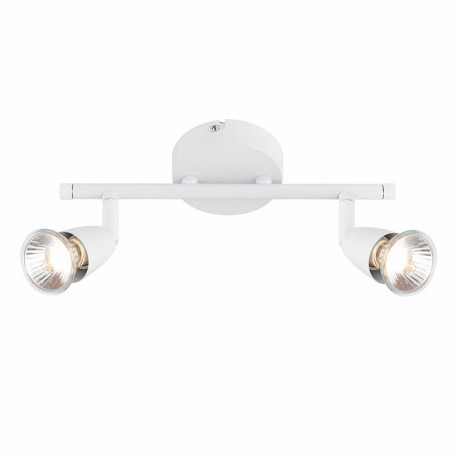 Amalfi Gloss White 2 Light Bar Ceiling Spotlight