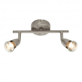 Endon Amalfi Satin Nickel Plate 2 Light Bar Ceiling Spotlight