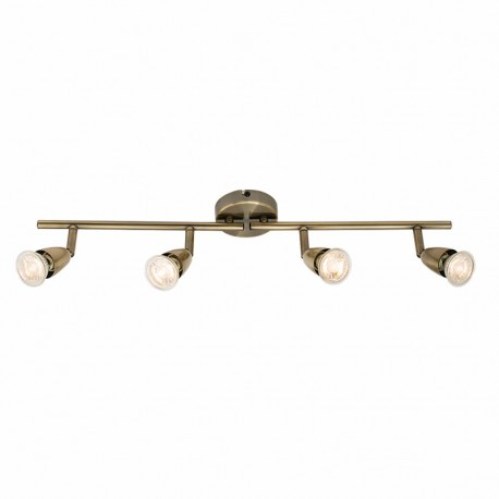 Amalfi Antique Brass Effect 4 Light Bar Ceiling Spotlight