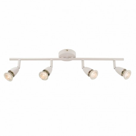 Amalfi Gloss White 4 Light Bar Ceiling Spotlight