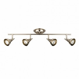 Endon Burbidge Bright 4 Light Nickel LED Bar Spotlight