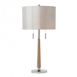 Endon Altesse Wood & Polished Nickel Table Lamp