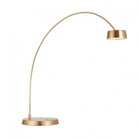 Finch Touch Task Satin Brushed Gold Effect Table Lamp