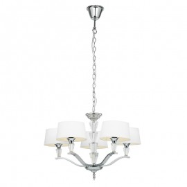 Endon Fiennes Chrome Plate With Crystal Detailing Pendant Light