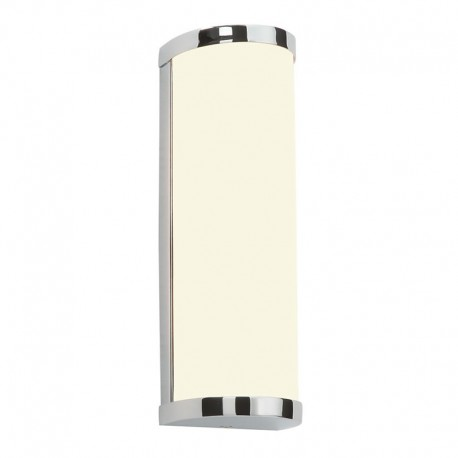 Ice Chrome & Diffused Glass IP44 Bathroom Wall Light