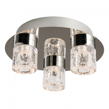 Imperial 3 Light  Flush LED Bathroom Ceiling Light