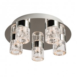 Endon Imperial 5 Light  Flush LED Bathroom Ceiling Light