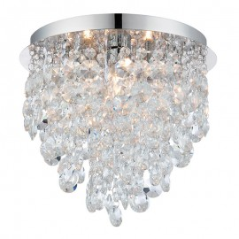 Endon Kristen Crystal Droplet IP44 Bathroom Ceiling Light