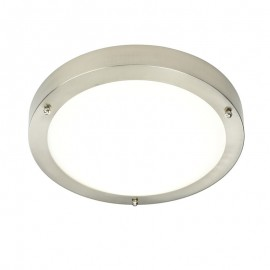 Endon Portico Satin Nickel IP44 Cool White LED Bathroom Light