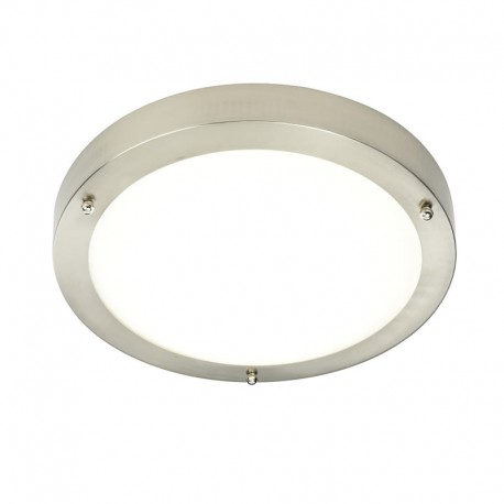 Portico Satin Nickel IP44 Cool White LED Bathroom Light