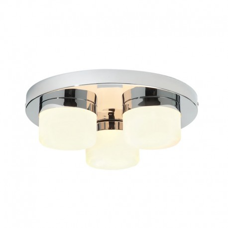 Pure 3 Light IP44 Bathroom Ceiling Light