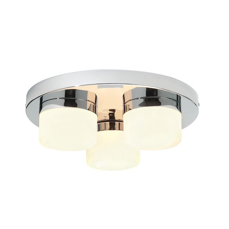 Pure 3 Light Ip44 Bathroom Ceiling Light